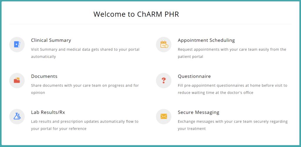 Charm Patient Portal Login